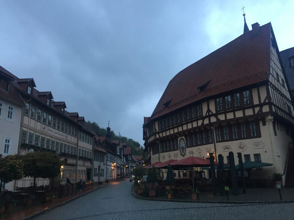 Der Marktplatz von Stolberg.